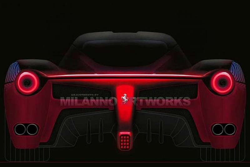 Ferrari F70 rear render based on teaser photo