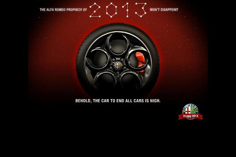 Alfa Romeo 4C teased for 2013 debut