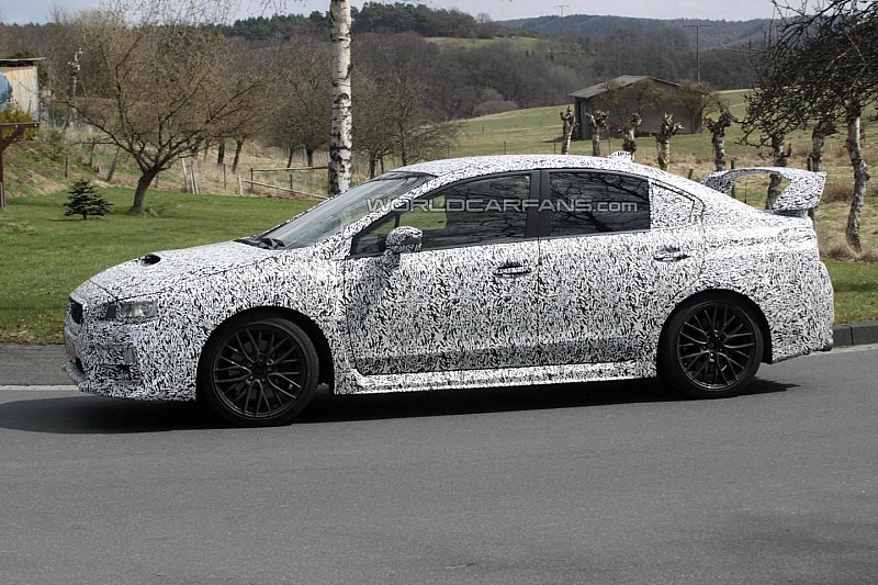 2014 Subaru WRX STI spied [video]