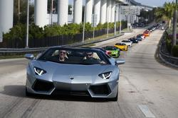 Lamborghini Aventador LP 700-4 Roadster in Miami 29.1.2013