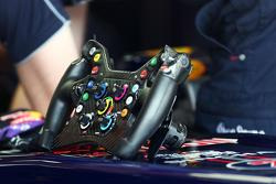 Steering wheel for Mark Webber (AUS) Red Bull Racing RB9. 06.07.2013